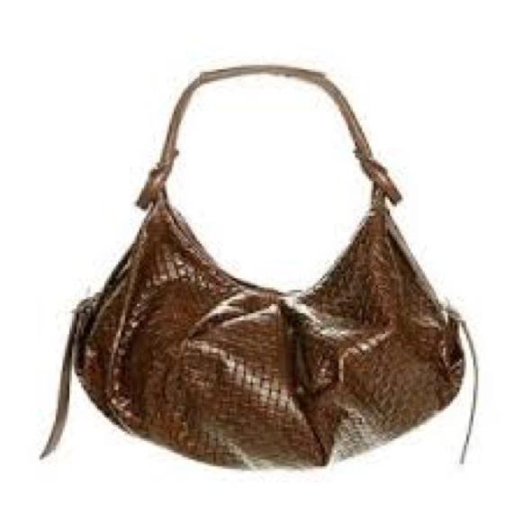 Andrea Brueckner Handbags - Andrea Brueckner large saddle bag in brown